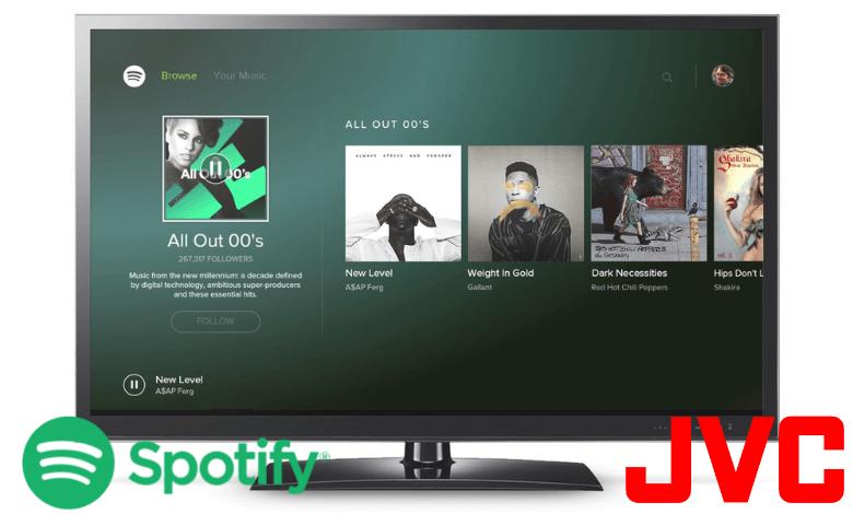 Spotify on JVC Smart TV